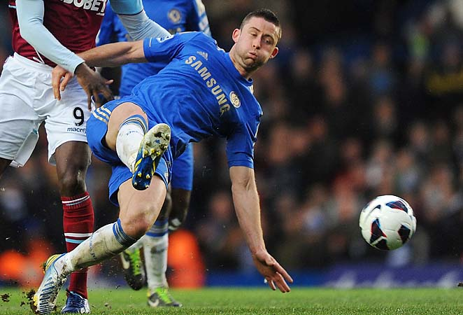 Chelsea defender Gary Cahill played for England at Euro 2012.