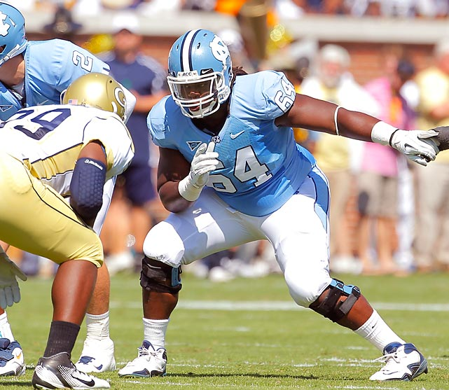 Tar Heel running back Giovani Bernard owes a lot of credit to the man who cleared the running lanes for him. Cooper excelled last season as a run blocker, and Bernard benefitted greatly. The All-American demonstrated athleticism and quick feet in his pass blocking, too. He's put on weight recently, giving him more strength to move defenders.