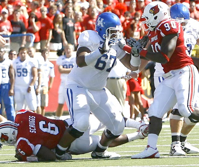 As bad as Kentucky was, Warford still stood out as an elite draft prospect and drove his stock higher with a strong showing at the Senior Bowl. The big guard -- he's 6-3, 332 pounds -- has surprisingly quick feet for his size, allowing him to stay in front of his man in pass protection or get around the tackle on lead run plays. He lacks some quickness off the snap, which could be exploited by veteran tackles in the NFL.