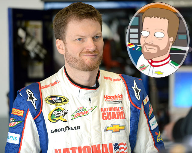 """Episode: The Hangover: Part Tubbs First aired: March 17, 2013 <underline>Memorable Moment</underline> <italics>After Cleveland runs onto the Richmond International Raceway track from the infield to get the drivers attention, causing a massive car pile-up, Dale Earnhardt, Jr. pulls up alongside him. </italics> <bold>Earnhardt, Jr.</bold>: """"Hey, what the heck are you doin' buddy?! You could get killed!"""" <bold>Cleveland</bold>: """"My wife's running for school board, and there's a debate in an hour!"""" <bold>Earnhardt, Jr.</bold>: """"Why didn't you say so? Nothin' is more important to NASCAR than education."""""""