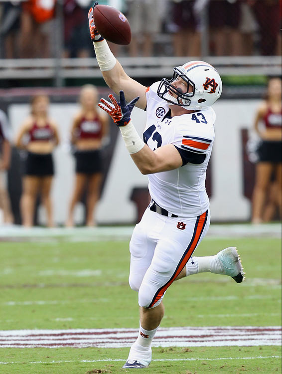 Lutzenkirchen had only 139 yards on 15 receptions in 2013, but a hip injury limited him to just six games and even Rob Gronkowski would have struggled to produce good stats in Auburn's passing offense last season. His proneness to injuries will be a concern, but Auburn's leader in career touchdowns by a tight end is a solid red zone target when he has an effective quarterback. Lutzenkirchen is also considered a decent blocker