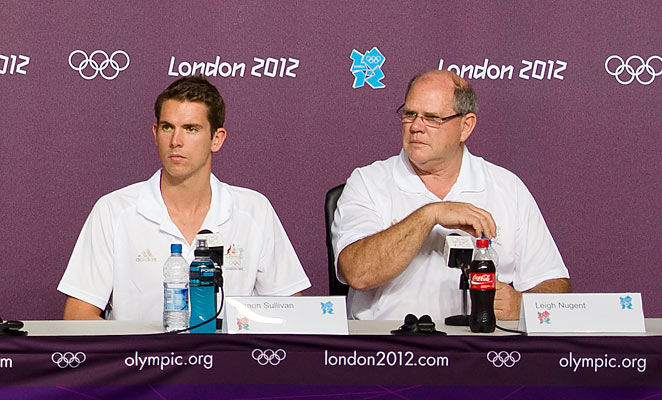 Leigh Nugent (right) quit as the head coach of Australia's swimming team today after a disappointing Olympics in 2012.