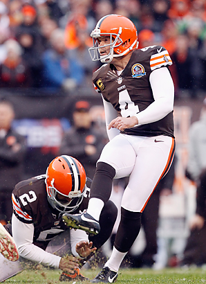 Phil Dawson scored 1,271 points in 14 years with the Browns, for whom he converted 29 of 31 field goal attempts in 2012.