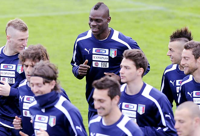 Mario Balotelli and Italy will head to Brazil this summer for the Confederations Cup.