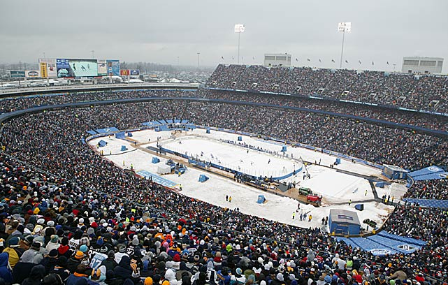 On New Year's Day, the NHL unveiled the first of its annual Winter Classics, billed as a return to the game's roots on frozen ponds. The matchup between the Pittsburgh Penguins and hometown Sabres attracted a league-record crowd of 71,217 to Ralph Wilson Stadium.