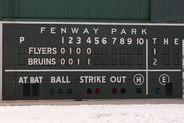 Fenway's ancient scoreboard told the story.