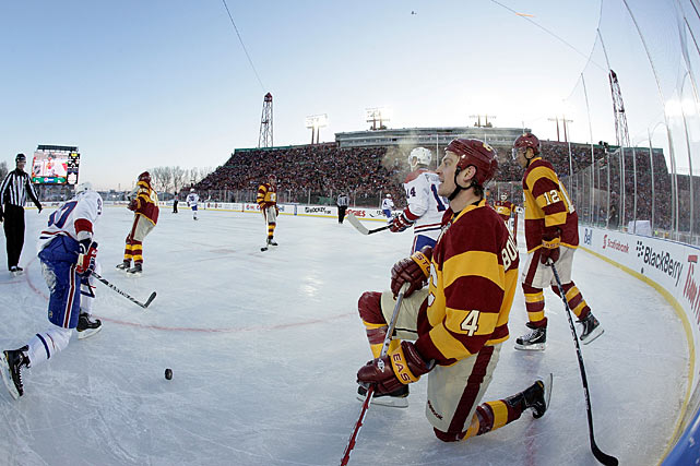 "Like its predecessor in 2003, this affair was a freezer, with temperatures hovering around -6F. ""The stands were full,"" Flames captain Jarome Iginla said after the game. ""I expected some people to go home. I can't imagine how cold they were."""