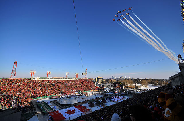 Canada welcomed its second Heritage Classic on February 20, 2011, a showdown between the Flames and Canadiens in McMahon Stadium.