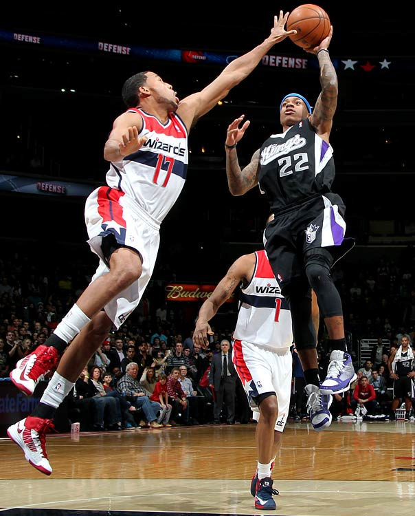 The Kings' second-year point guard scored 10 of his 22 points in the fourth quarter, including a tiebreaker floater with one second left to send Sacramento past Washington 96-94. Sacramento won on the road for only the fifth time all season.