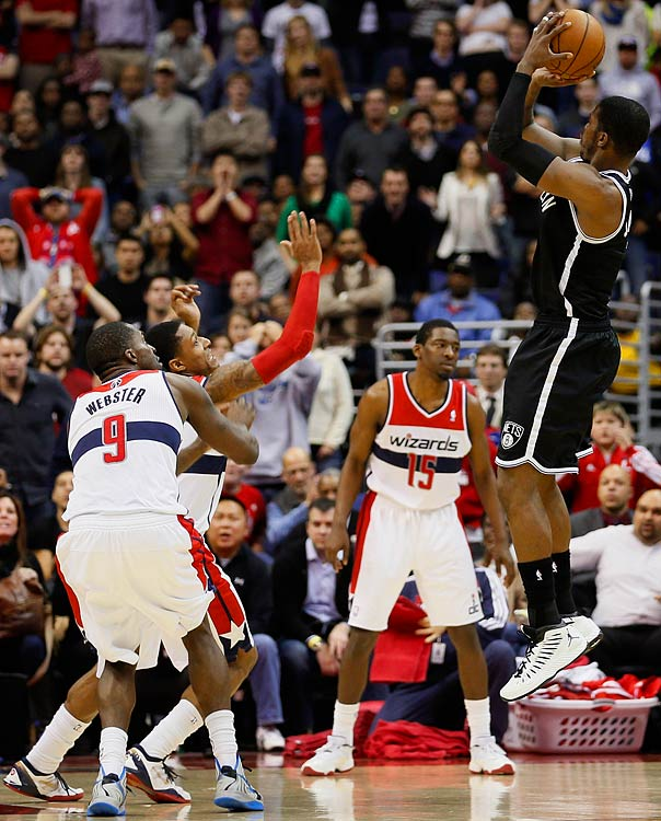 The Nets' shooting guard has two double-overtime game-winners this season, the second coming on a step-back jumper with 0.7 seconds left in a 115-113 victory at Washington.