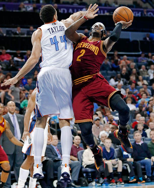 After milking the clock for nearly 15 seconds, Irving drilled a 12-footer over Jeffery Taylor with one second to play as the Cavaliers defeated the Bobcats 106-104 in Charlotte.