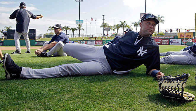 Derek Jeter is still recovering from offseason ankle surgery.