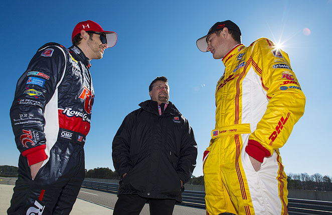 Marco Andretti (left) is part of racing royalty by birthright, but Ryan Hunter-Reay's success could put him front and center.