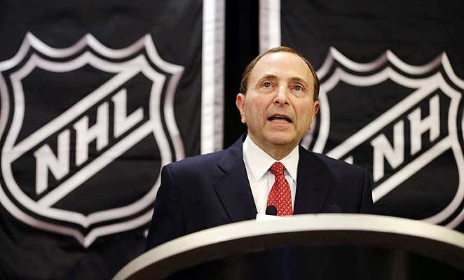 """You really have to limit replay to things that are clear, crystal clear,"" Gary Bettman said."