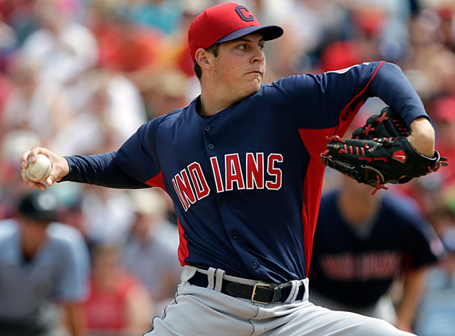 Trevor Bauer was one of several candidates for a spot at the back of Cleveland's rotation.