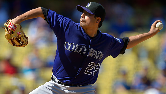 Jorge De La Rosa made just 13 starts for Colorado the past two seasons because of an elbow injury that required Tommy John surgery.