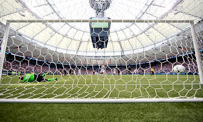 BC Place, seen here during a 2012 Vancouver Whitecaps game, has been chosen to host the final of the 2015 FIFA Women's World Cup.