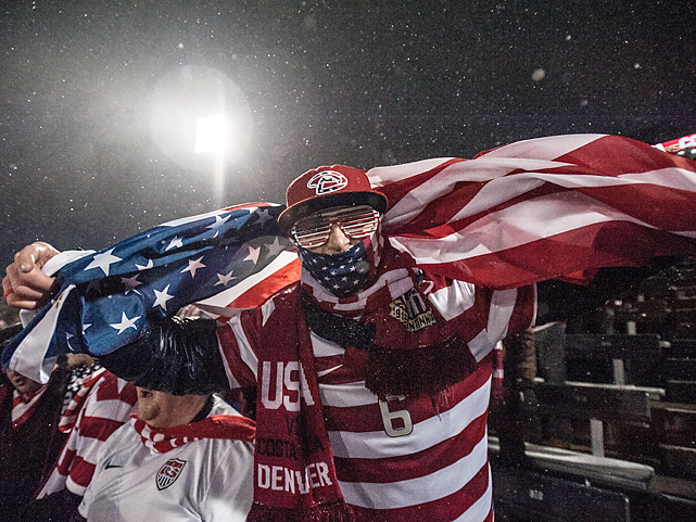 The warming qualities of any piece of cloth, even an American flag, was of great value in the winter conditions found in Commerce City, Colorado.