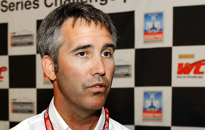 Randy Bernard, seen here in a 2012 file photo, was pushed out by IndyCar team owners last season.