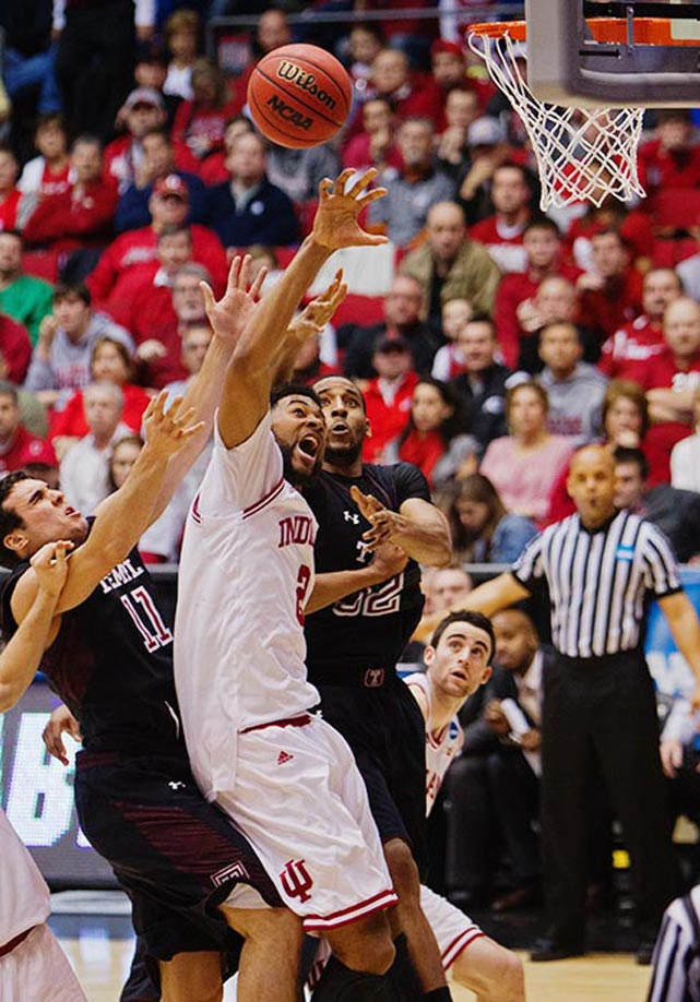 <bold>Defeated James Madison 83-62</bold> <bold>Defeated Temple 58-52</bold> <bold>Next: vs. Syracuse </bold>(<bold><italics>SI's live bracket</italics></bold>) <bold>Christian Watford had eight rebounds and nine points for Indiana, which almost became the second one-seed to fall. </bold>