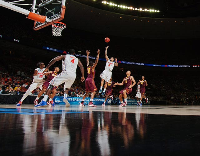 <bold>Defeated Northwestern State 79-47</bold> <bold>Defeated Minnesota 78-64</bold> <bold>Next: vs. Florida Gulf Coast </bold> (<bold><italics>SI's live bracket</italics></bold>) <bold>Mike Rosario's sixth three-pointer with three minutes left pushed the Gators' lead to 16 and effectively locked up the win.</bold>