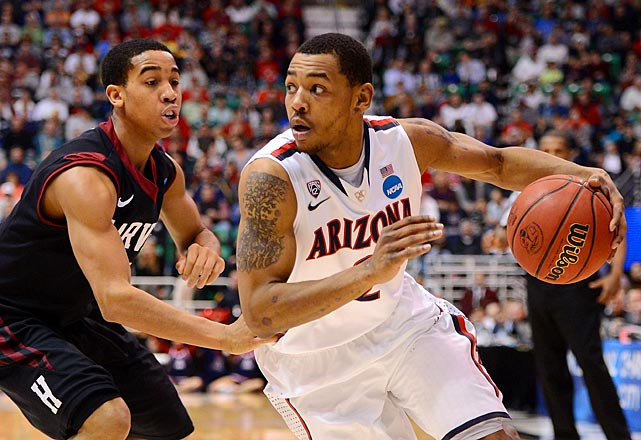 <bold>Lyons has come alive in March with 50 points through two of Arizona's tournament games, including 27 against Harvard in the Round of 32, which matched a career-high. Lyons, a Xavier transfer, averaged only 12.4 points per game in the five games leading up to the tournament.</bold>