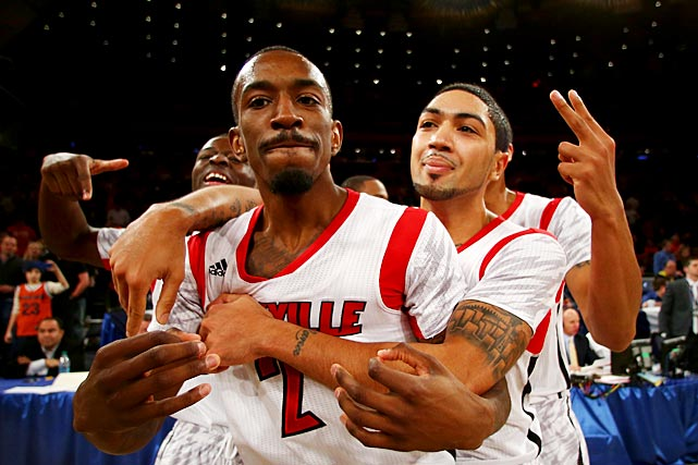 <bold>Smith leads one of the favorite teams to take home the title and is the Cardinals' main offensive weapon through two tournament games. Smith (18.4 points per game this season) is averaging 25.0 points on 17-of-31 shooting after Louisville's victories against North Carolina A&T and Colorado State.</bold>