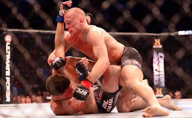 During UFC 158, Georges St-Pierre was able to take Nick Diaz to the mat -- and mainly keep him there.