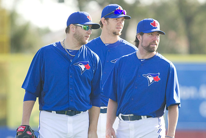Mark Buehrle, Josh Johnson and R.A. Dickey give Toronto one of the game's best starting rotations.