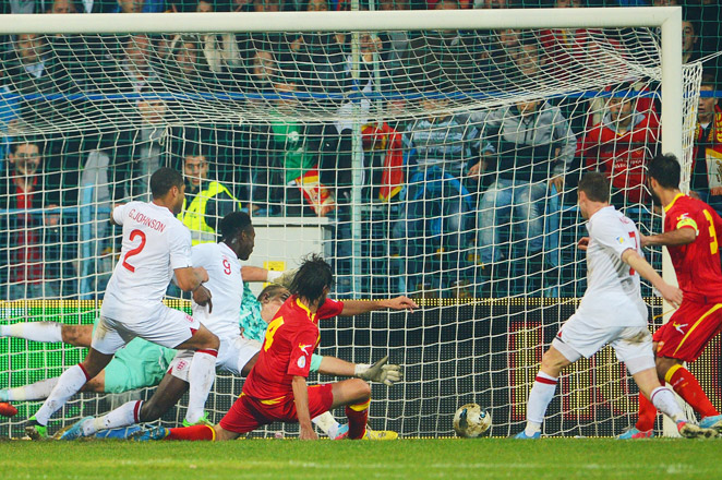 Montenegro come back to tie England with goal from Dejan Damjanovic in the 76th minute.