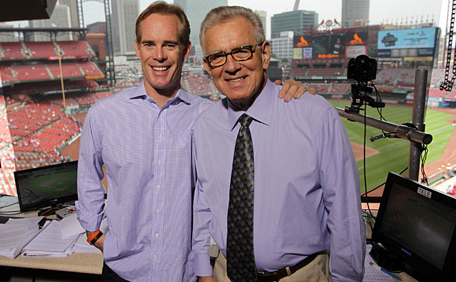 Joe Buck (left) and Tim McCarver have been partners in Fox's broadcast booth since 1996.
