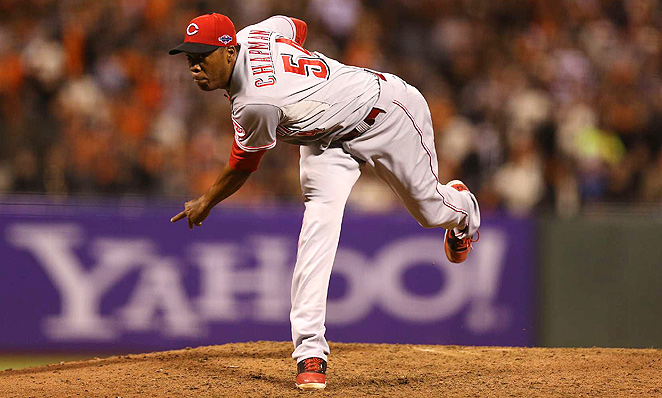 The Reds considered moving Aroldis Chapman into the rotation, but decided to make him the closer.
