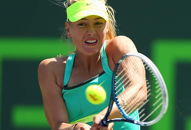 Maria Sharapova will play Jelena Jankovic or Roberta Vinci in the semifinals.