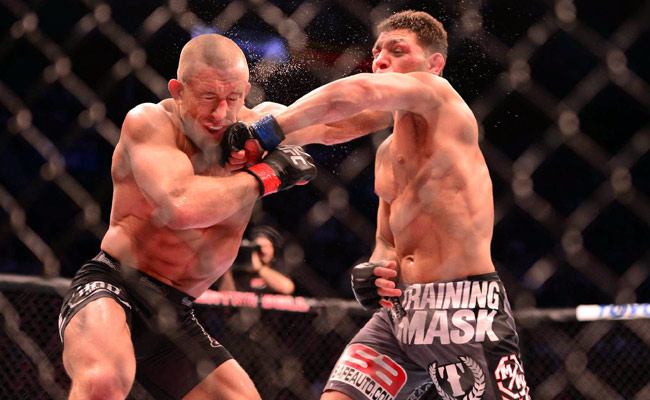 Nick Diaz's (right) antics are well-known, but his recent complaints don't necessarily ring hollow.