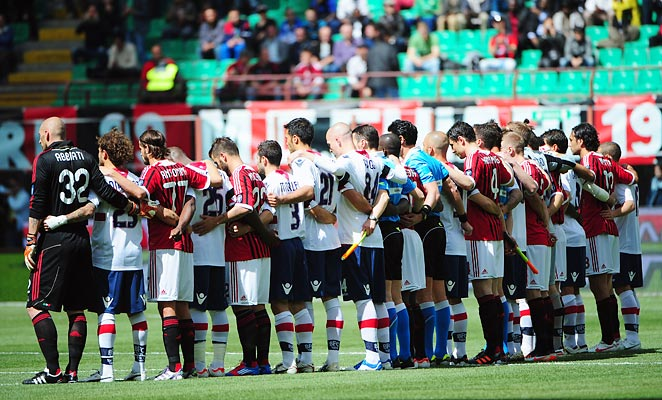 Serie A teams, including AC Milan and Bologna, paid tribute to Morosini before games last year.