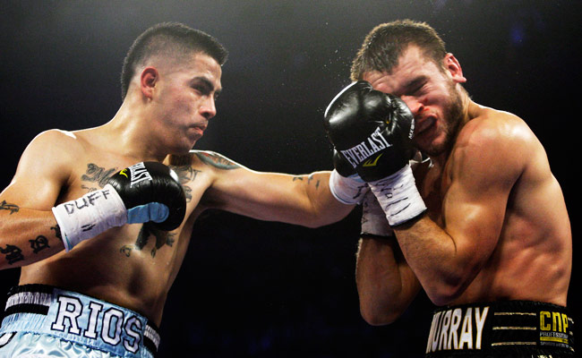 Brandon Rios (31-0-1) defeated John Murray in Dec. 2011 with an 11th-round TKO.