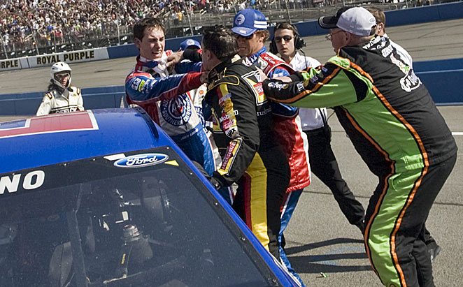 Joey Logano and Tony Stewart gave people plenty to talk about after the Cup race at Fontana.