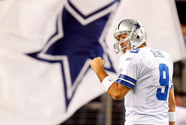 In a season in which the Cowboys opened their new stadium, Romo led Dallas to the NFC East title and their first playoff win in 13 years, a 34-14 victory over Philadelphia.