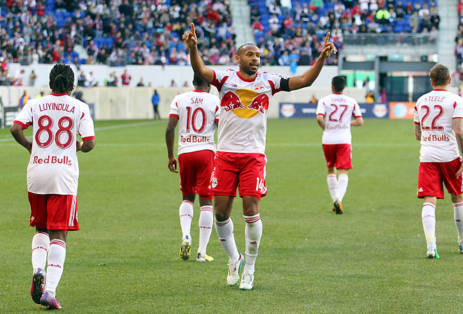 Thierry Henry receives a base salary of $3.75 million per season from Major League Soccer.