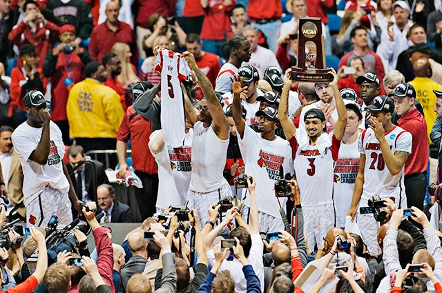 Louisville will take on Wichita State in its semifinal, while Michigan and Syracuse will square off in the other one.