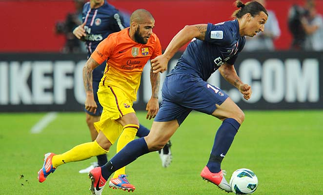 Zlatan Ibrahimovic made his PSG debut in a friendly with Barcelona in August.
