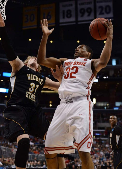 Lenzelle Smith Jr. and the Buckeyes mounted a comeback in the second half against Wichita State, but Ron Baker and his teammates held on to shock Ohio State.