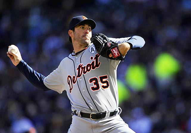 Justin Verlander won on opening day for the first time in six tries, striking out seven over five shutout innings at frosty Target Field, sending the defending AL champions past Minnesota, 4-2.