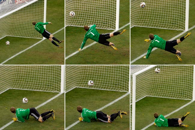 A Frank Lampard strike during the 2010 World Cup was incorrectly said to have not been a goal.