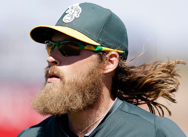 "In early March 2013, the Gold Glove right fielder accepted the challenge to a ""beard-off"" over Twitter from the WWE's Daniel Bryan. Fans will vote on which athlete has the best beard and the loser will have to shave his off at the end of the year."