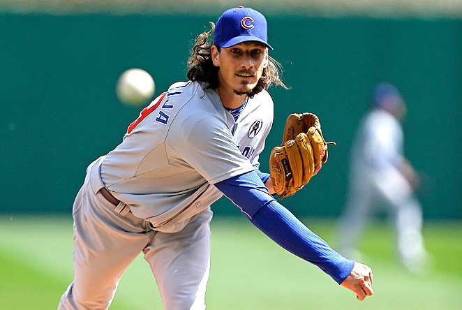Opening Day starter Jeff Samardzija looked like a true ace for the Cubs in dominating the Pirates.