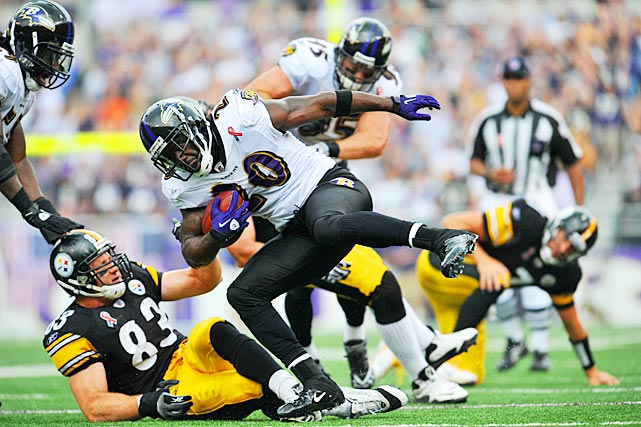 Ed Reed set an NFL record on his 33rd birthday. With his two interceptions of Ben Roethlisberger, Reed became the first player whose career began in the Super Bowl era to have at least two interceptions in 12 games. That broke a tie with Ronnie Lott at 11 each. Reed's first Birthday Game was uneventful by comparison, a three-tackle performance in a 24-7 loss to the Colts in 2005.