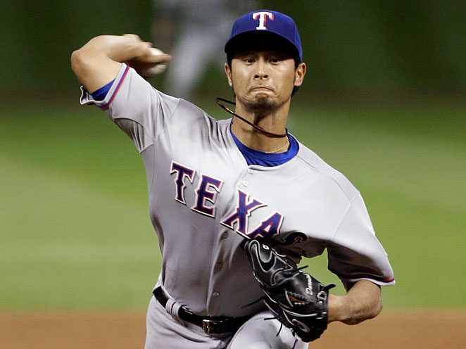Yu Darvish lost a perfect game with one out to go, finishing with 14 strikeouts against the Astros.