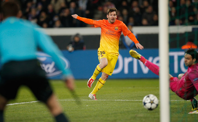 Lionel Messi scored vs. PSG on Tuesday but did not appear in the second half because of an injury.