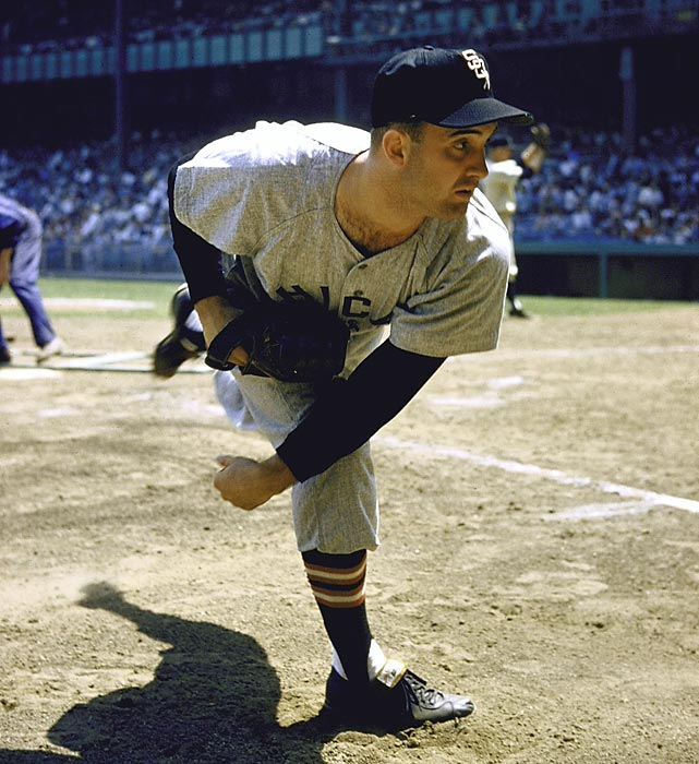 Lefty Billy Pierce had his number 19 retired by the White Sox, but he couldn't retire the 27th man he faced in this game, Senators pinch-hitter Ed Fitz Gerald. Fitz Gerald doubled before Pierce struck out centerfielder Albie Pearson to secure a disappointing 3-0 win.